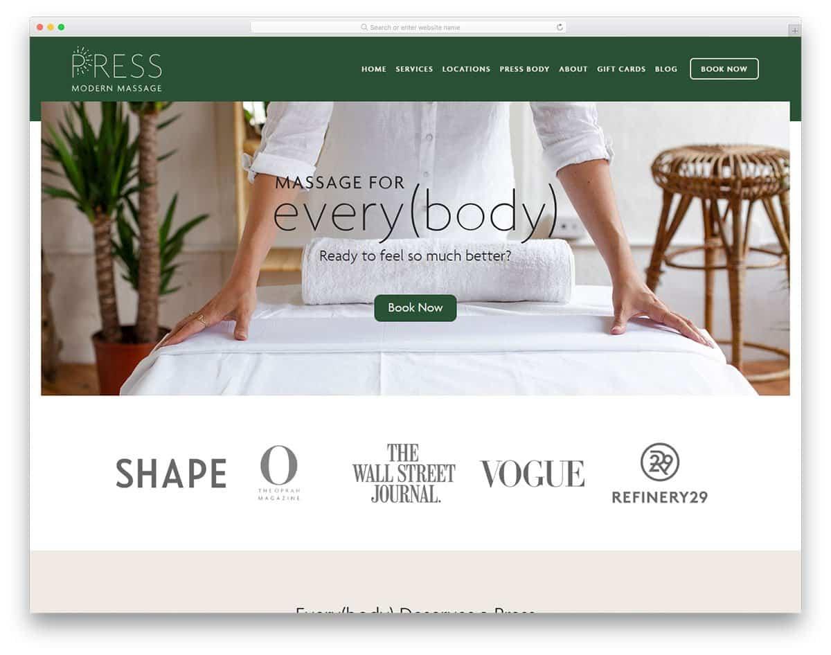 diseño páginas web wordpress para masajistas