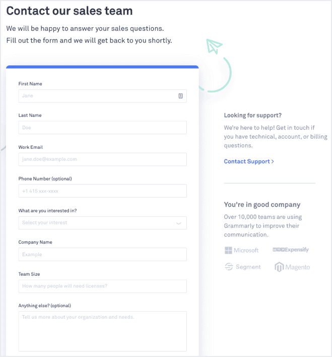 mejores ejemplos de diseño de páginas de contacto para una web