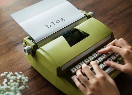 Plan A Website Typewriter Blogging