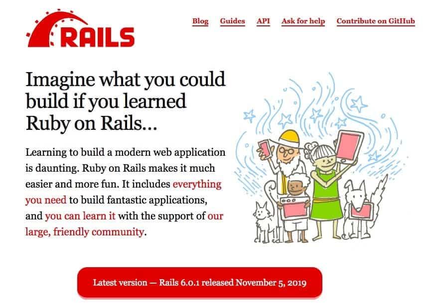 Ruby on the Rails Framework for web development