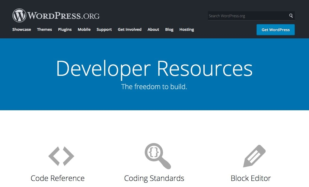 WordPress web developer resources.